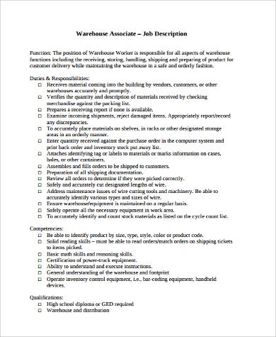 Sample Warehouse Worker Resume - 9+ Examples in Word, PDF