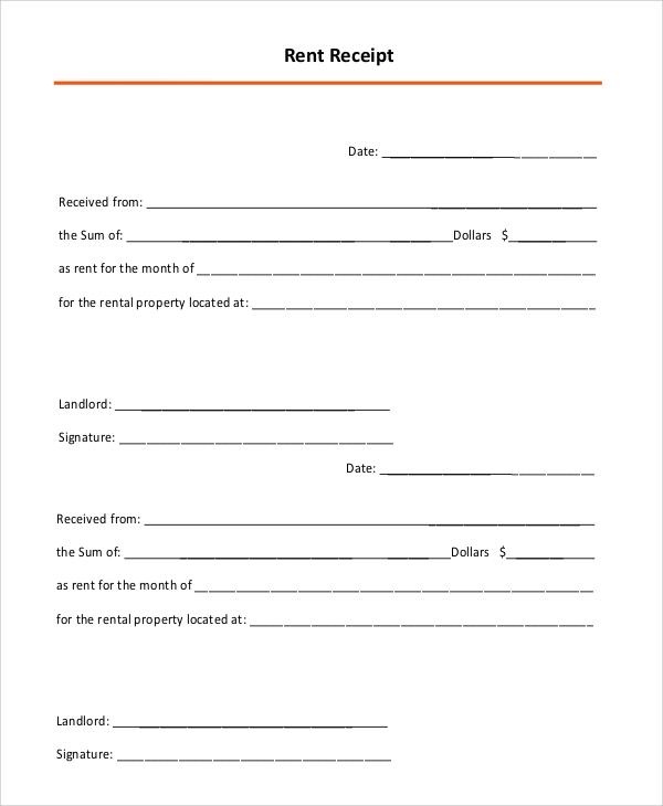 10+ Rental Receipt Samples Sample Templates
