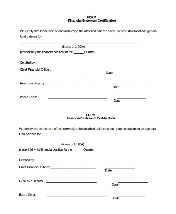 10+ Sample Financial Statement Forms Sample Templates