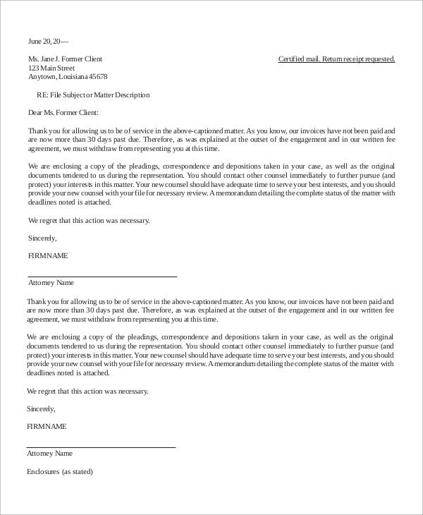 10+ Letter of Termination Samples Sample Templates - termination letter description