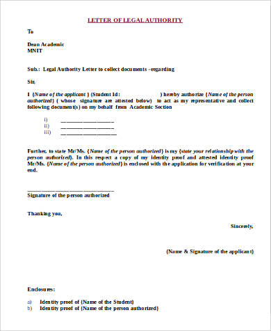 9+ Legal Letter Format Samples Sample Templates
