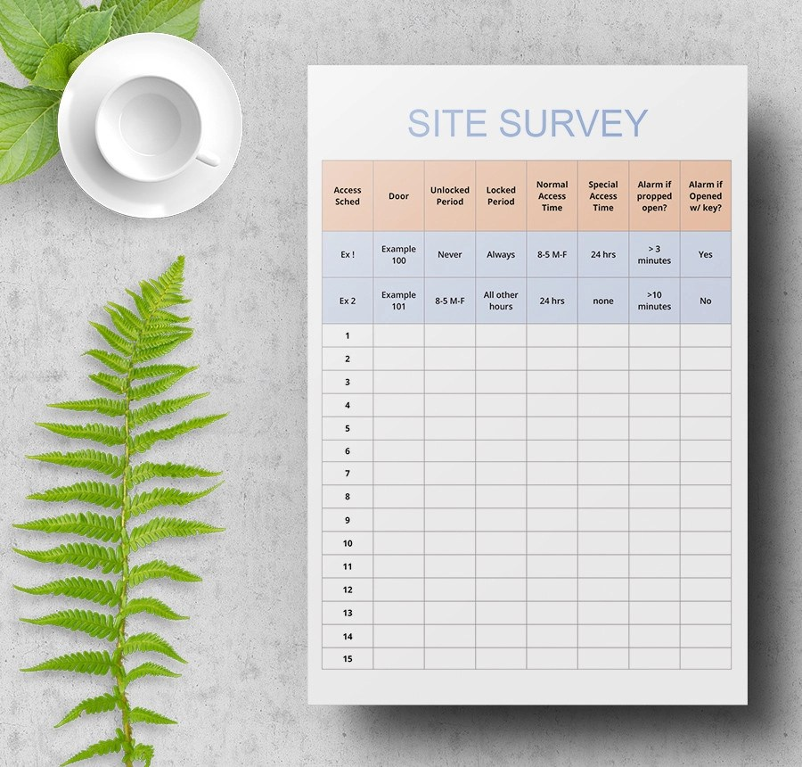 7+ Free Survey Samples - (Employee, Student, Product) - site survey template