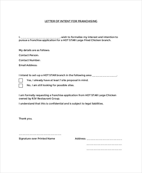 43+ Letter of Intent Samples Sample Templates