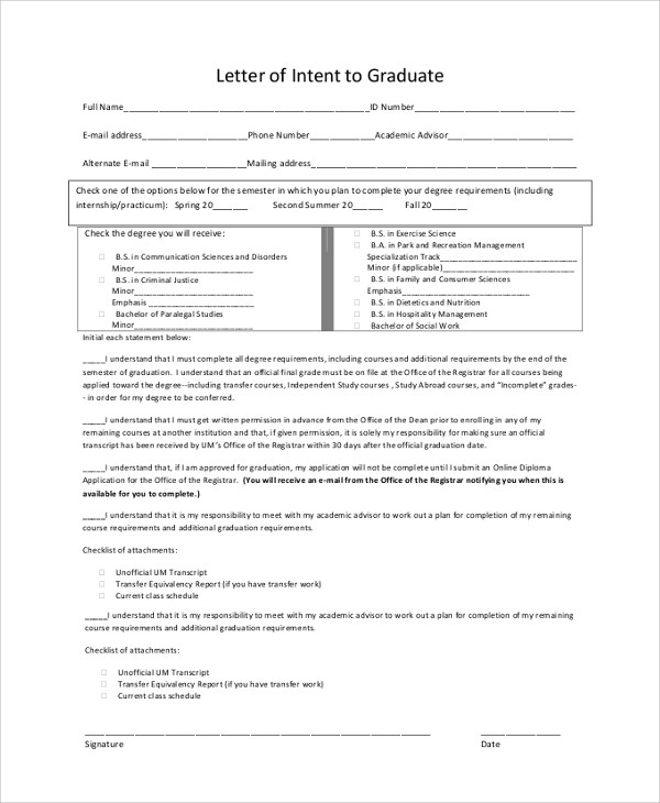 43+ Letter of Intent Samples Sample Templates - internship letter of intent