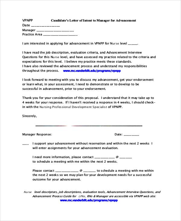 sample letter of intent pdf