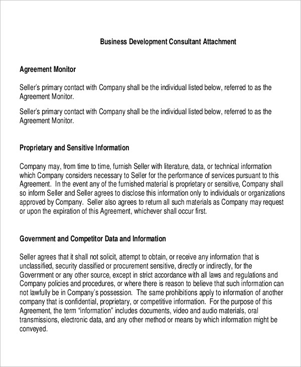 Sample Consulting Agreement - 9+ Examples in Word, PDF - business consultant agreement