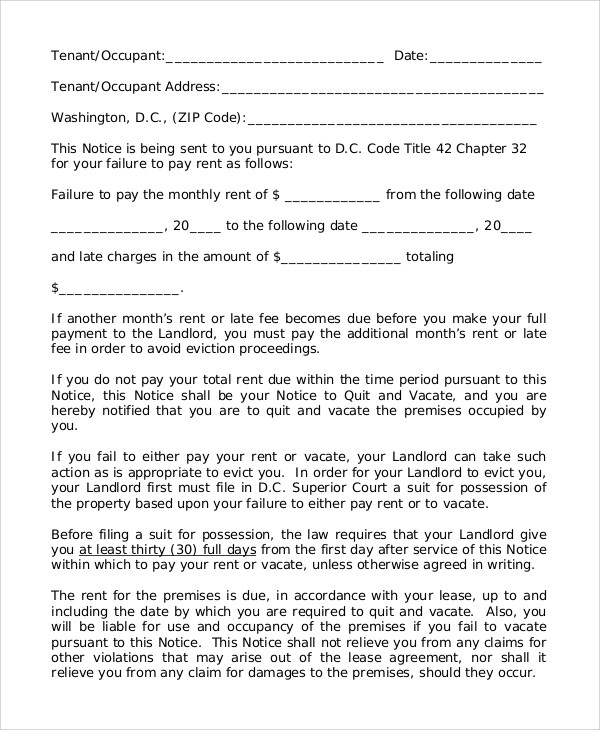 400518 letter of eviction sample sample eviction notice blank - copy of an eviction notice