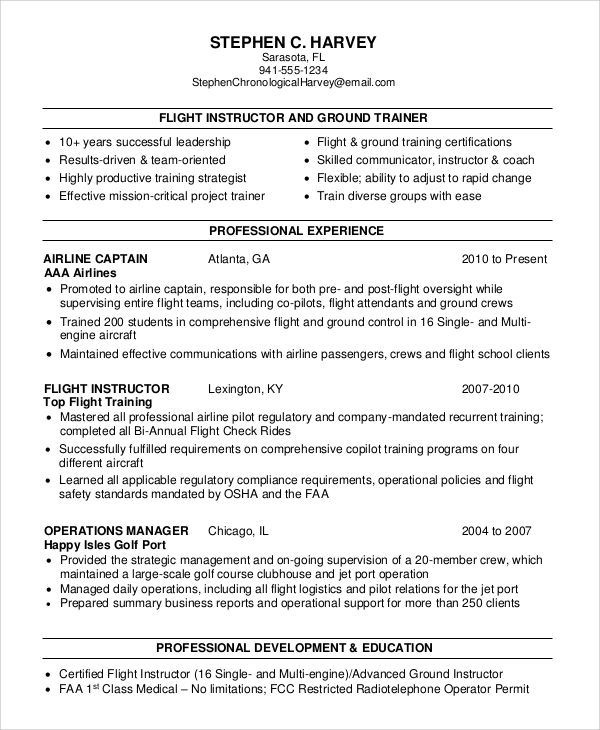 sample resume for no experience flight attendant