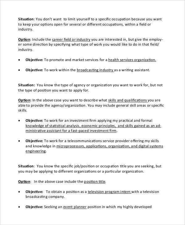 Simple Resume Objective Statements  LondaBritishcollegeCo