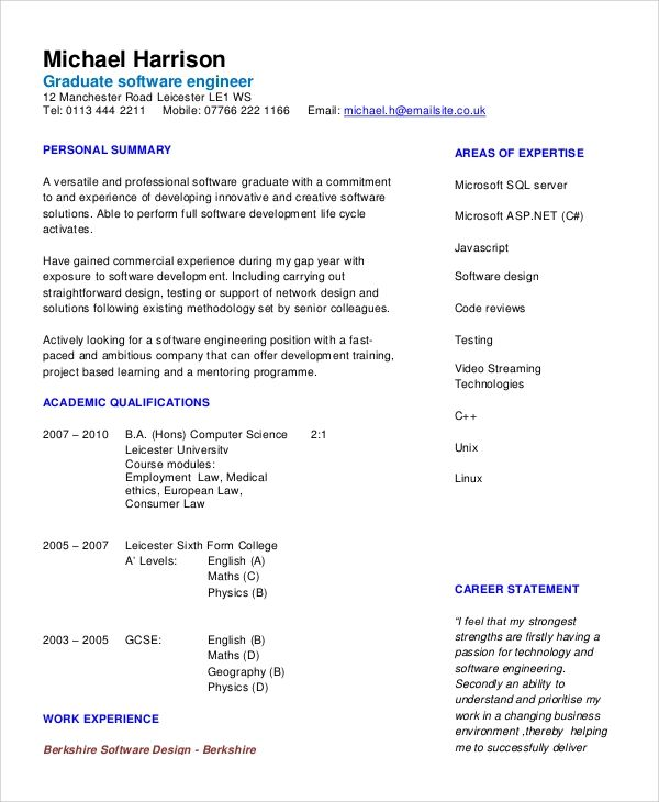 general objective statement resume examples