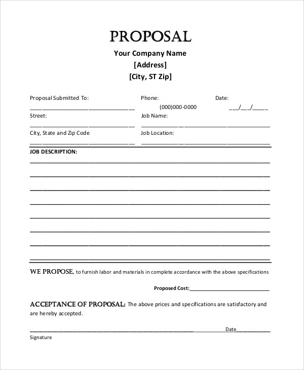 blank proposal template hitecauto - work proposal