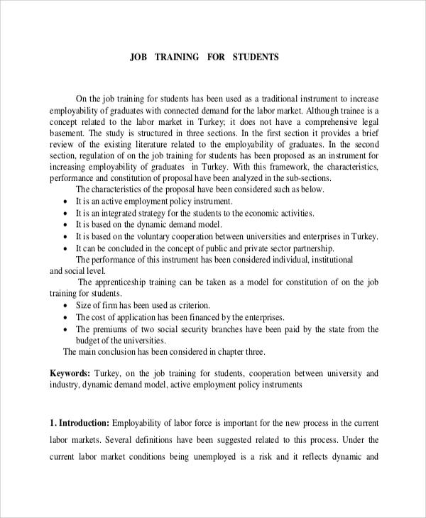 5+ Job Proposal Samples Sample Templates
