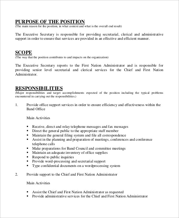 18+ Administrative Assistant Job Duties Resume Sample Cover - clerical duties resume