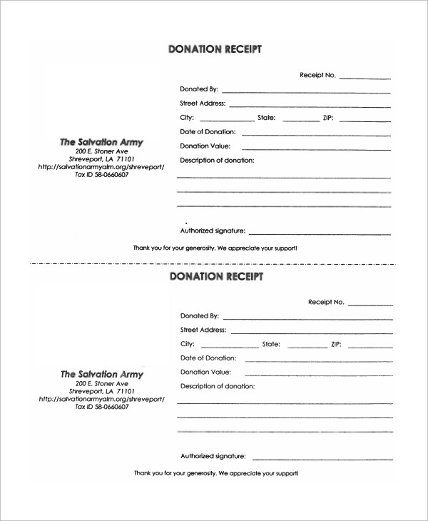 10+ Donation Receipt Samples Sample Templates