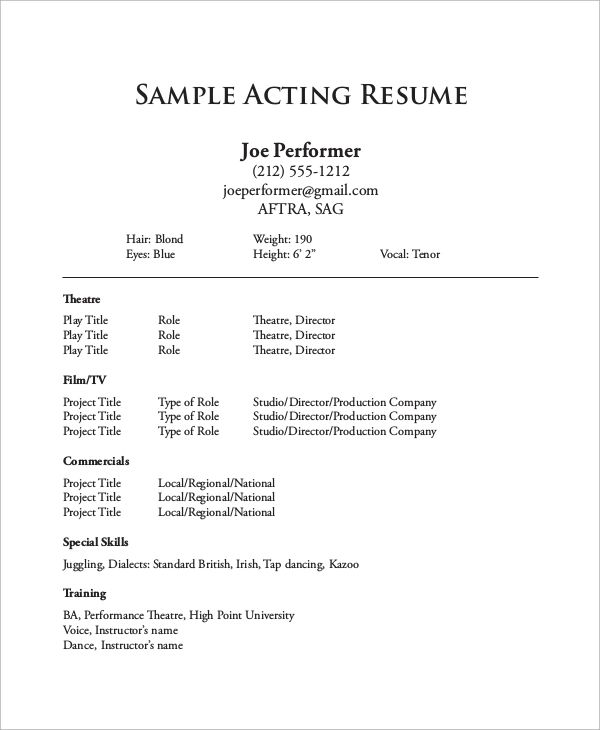 sample of one page resume in pdf