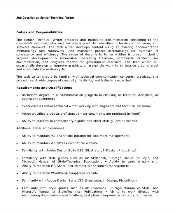 technical writing resume | resume-template.paasprovider.com