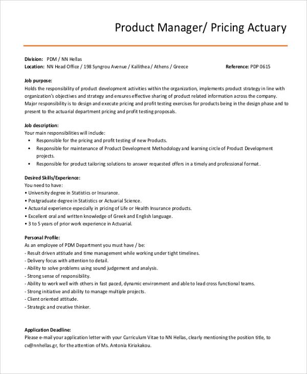 Sample Actuarial Resumes: Actuary Job Description. Business Banker Corporate Banking