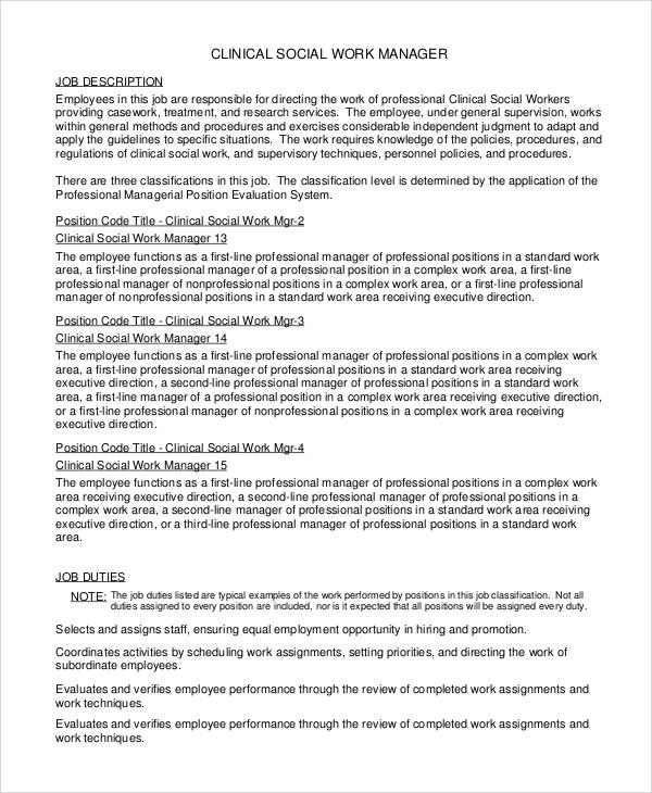 ideal job description examples