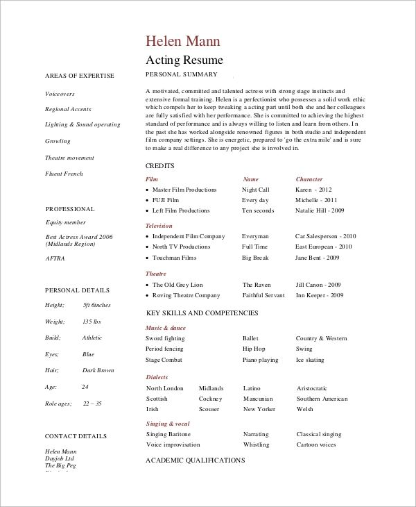 professional skills for a resumes