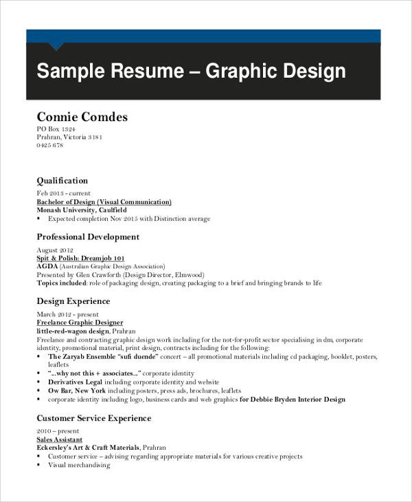 graphic design resume samples 2016