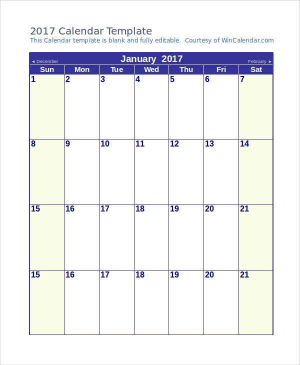 10+ Word Calendar Samples Sample Templates - sample blank calendar
