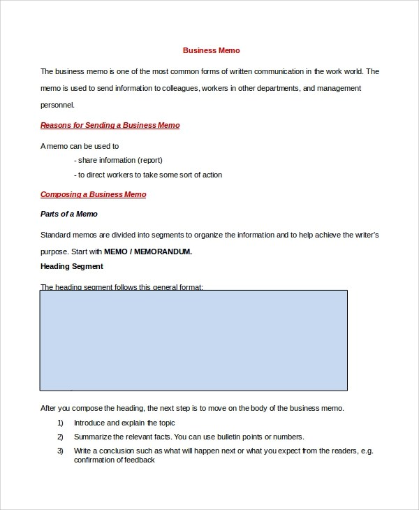 Memo Sample in Word - 10+ Examples in PDF, Word