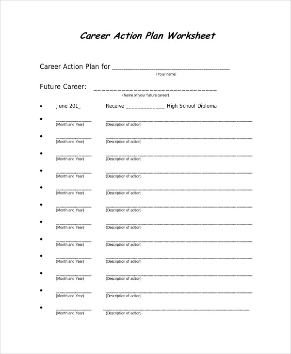 46+ Sample Action Plans Sample Templates - action plan work sheet