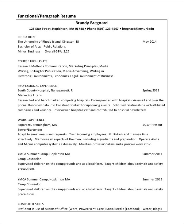 6+ Sample Data Entry Resumes Sample Templates - data entry experience