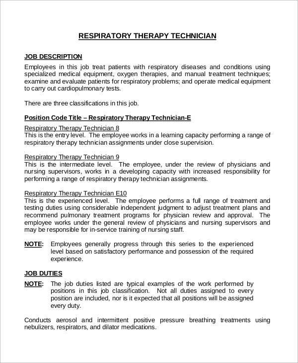 Therapist Job Description Resume  LondaBritishcollegeCo