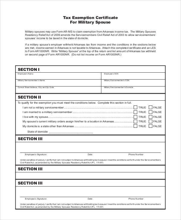 10+ Sample Tax Exemption Forms Sample Templates - tax exemption form