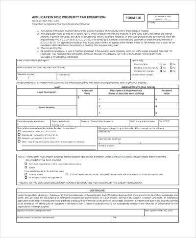 Sample Tax Exemption Form - 10+ Examples in PDF