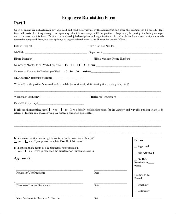 Requisition Form Sample 10 Examples In Pdf Word Free Requisition Form