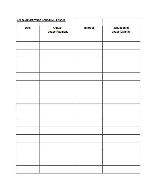 ammoritzation schedule