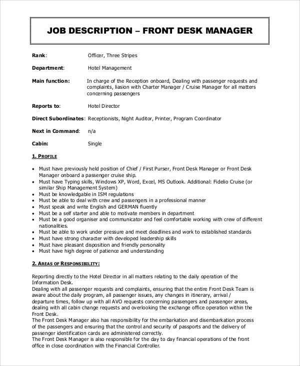 Supervisor Job Description Logistics Supervisor Job Description