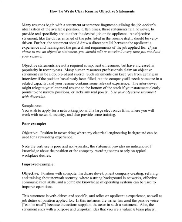 resume objective wording resume cv cover letter