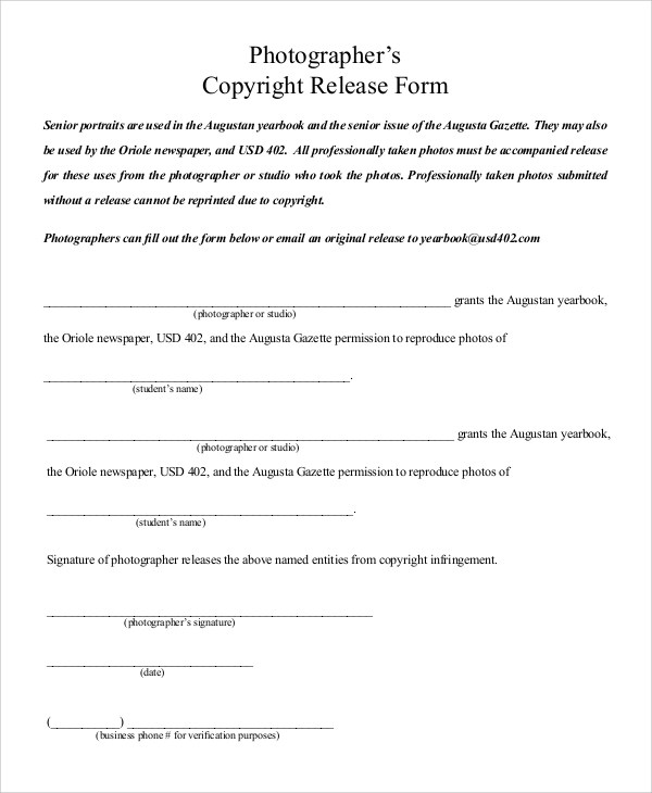 Copyright Permission Letter Template