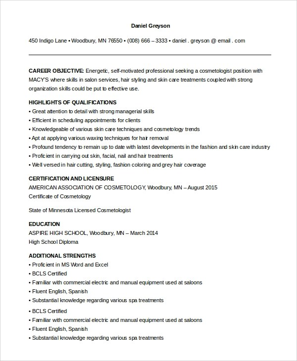 286 best images about resume 28 images esthetician