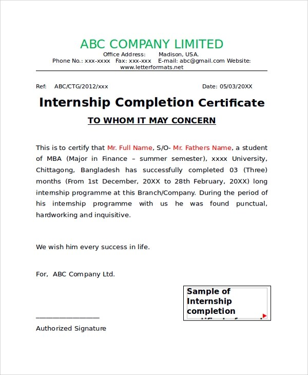 Sample internship completion certificate from company images sample certificate for an internship images certificate design sample internship completion certificate doc images certificate sample yadclub Image collections