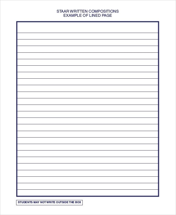 8+ Printable Lined Paper \u2013 PDF, DOC Sample Templates - Lined Paper To Write On