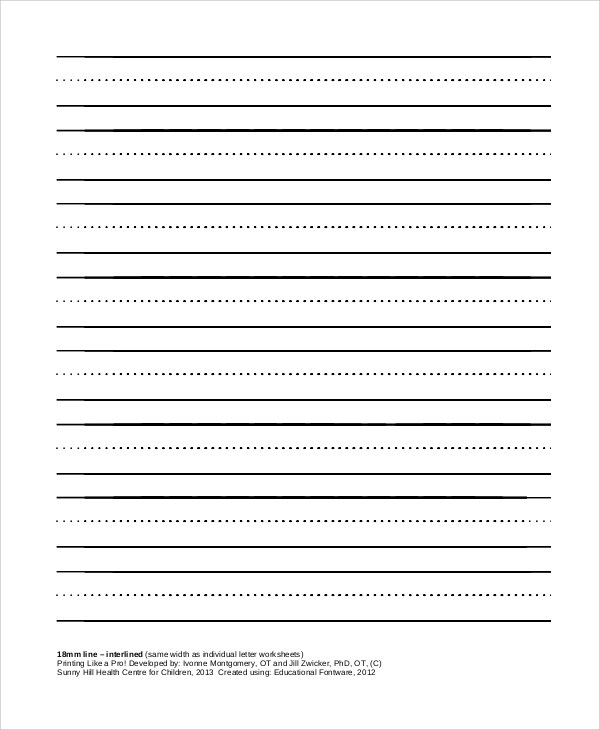 Sample Printable Lined Paper - 8+ Examples in PDF, Word - sample lined paper