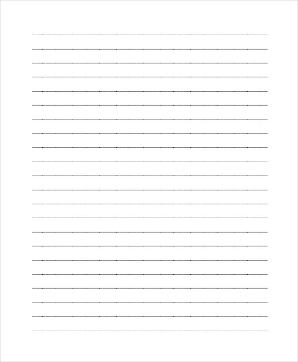 Printable Lined Paper - 8+ Examples in PDF, Word