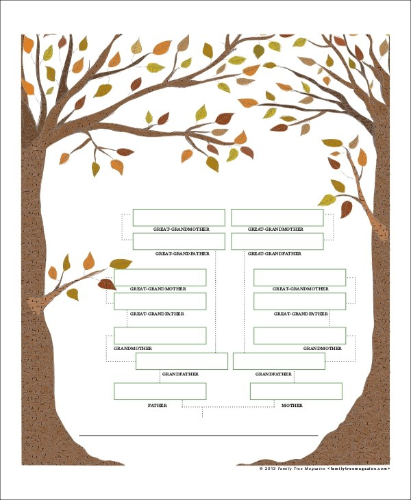 8+ Blank Family Tree Samples Sample Templates