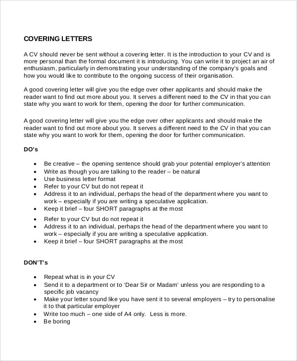 Good Short Cover Letter. Best Short Cover Letter Sample For Email