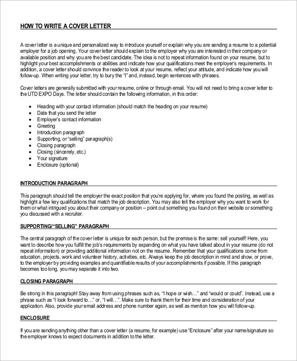 8+ Cover Letter Introduction Samples Sample Templates