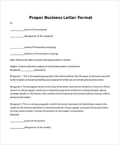8+ Business Letter Samples - PDF, DOC
