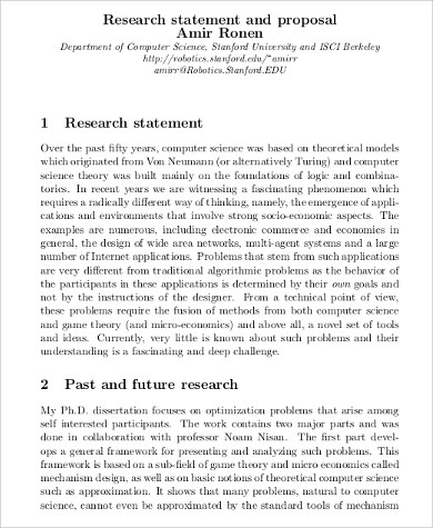 10+ Sample Research Statements Sample Templates