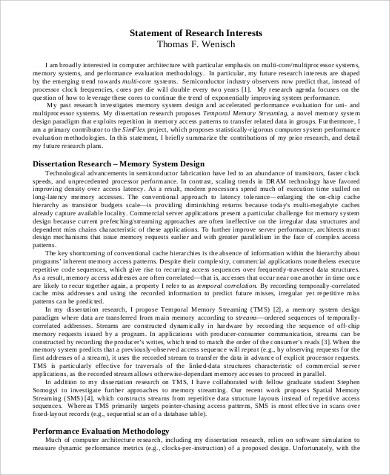 Sample Statement of Interest - 8+ Examples in PDF, Word