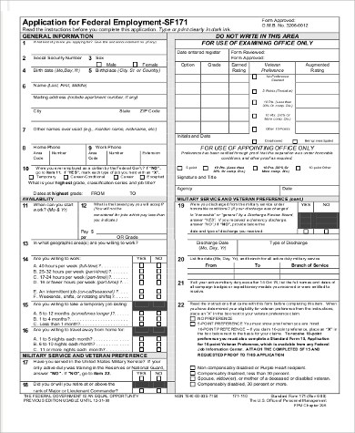 Sample Blank Job Application - 10+ Examples in PDF, Word - blank employment application