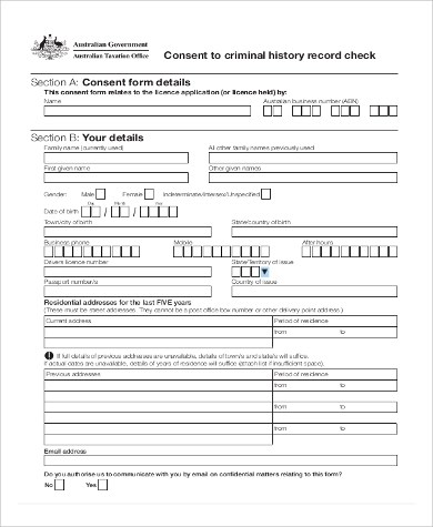 Sample Background Check Form - 10+ Examples in PDF, Word - background check consent forms