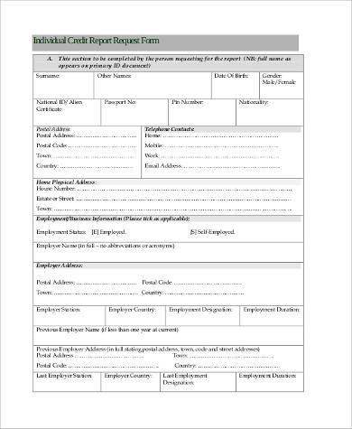 8+ Sample Annual Credit Report Forms Sample Templates - annual credit report form